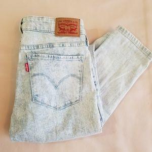 Acid Wash Levi's Skinny Jeans